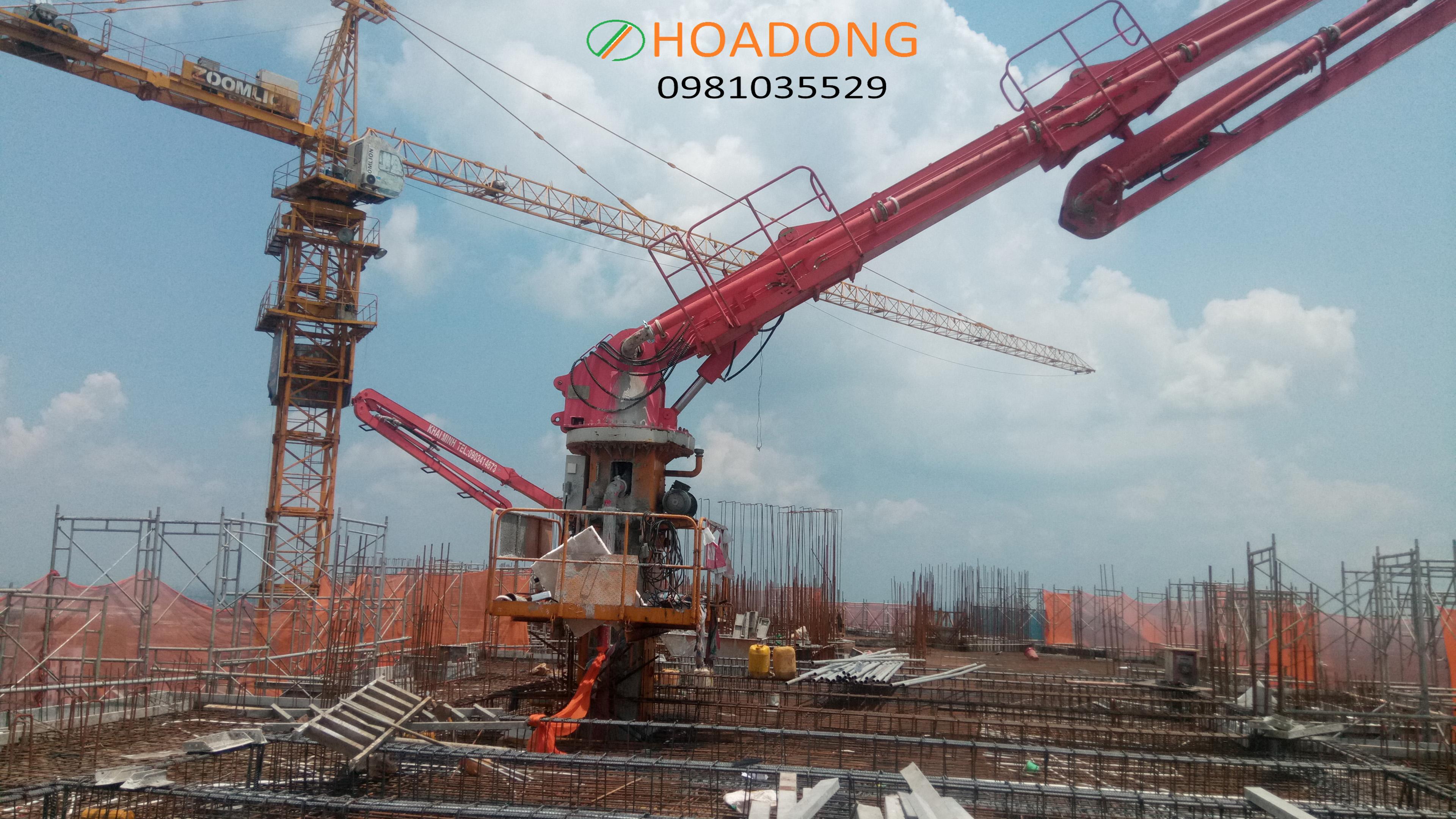 Bridge distribution, concrete pumping